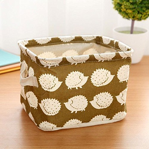 CALISTOUS 1PC Stationery Handicraft Storage Basket Linen Des