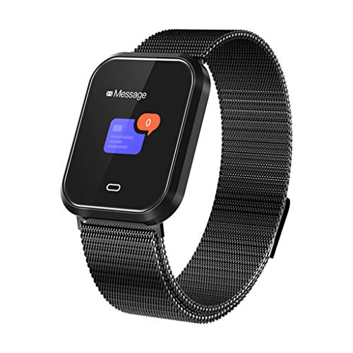 CZYCO Smart Watch Sports Fitness Heart Rate Tracker Blood Pressure Calories Waterproof Support Multiple Sports Modes(Black)