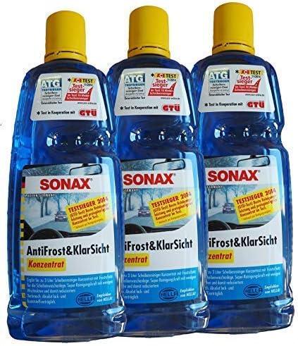 Preisjubel 12 X SONAX contra Helada y Transparente Concentrarse 1l,Anticongelante,Enteiser,Limpiador: Amazon.es: Coche y moto