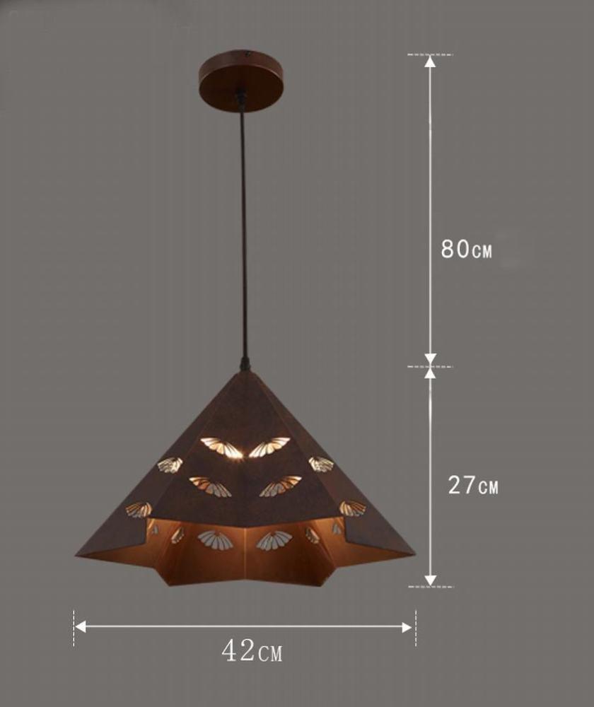 Klassischer einzelner Hauptdeckelleuchter der Weinlese industrieller Windbartisch-DachbodenPersönlichkeit kreativer,H,Einzelner Kopf DEN