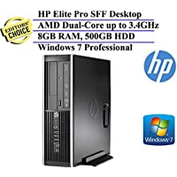 HP Compaq Pro Small Form Factor High Performance Business Desktop Computer (AMD Dual-Core Processor 3.4 GHz, 8GB RAM, 500GB HDD, DVD, Windows 7 Professional) (Certified Refurbished)