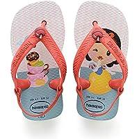Havaianas Sandálias New Baby Disney Princess, Branco/Morango
