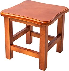 GOLDEN SUN Solid Wood Square Step Stool Footstool 10 inch for Kitchen, Bedroom, Living Room, or Bathroom