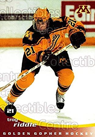 b672534bc Amazon.com  (CI) Troy Riddle Hockey Card 2002-03 Minnesota Golden Gophers  18 Troy Riddle  Collectibles   Fine Art