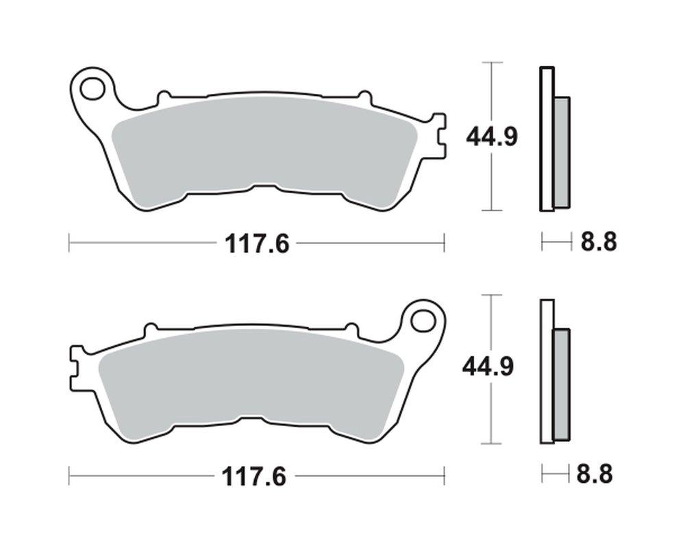 Pastiglie freno Sinter per Honda CB 600 1000 1100 1300, Suzuki C 1800 R Intruder Suzuki C 1800R Intruder TRW Lucas