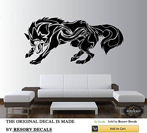 (Wall Decal Wolf Dog Animals Anime Wall Decal Wolf Wall Tattoo Wolf Wolves Wall Decals TT5831)