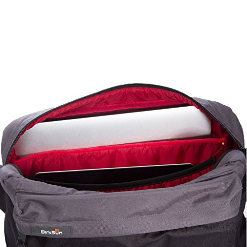 BirkSun Connect Solar Battery Charger Messenger Pack, Black and Red by BirkSun (Image #3)