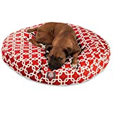 Red Links Large Round Indoor Outdoor Pet Dog Bed With Removable Washable Cover By Majestic Pet Products
