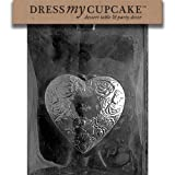 Dress My Cupcake DMCV117 Chocolate Candy Mold, Heart, Valentine's Day