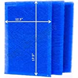 MicroPower Guard Replacement Filter Pads 14x20 Refills (3 Pack) BLUE