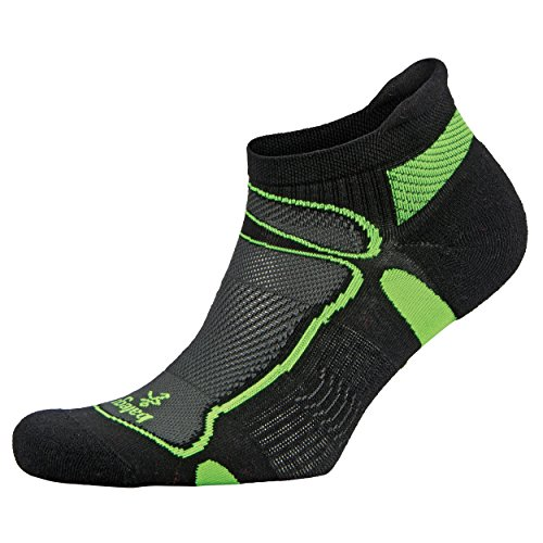 Balega Ultralight No Show Athletic Running Socks for Men and Women (1 Pair) (2018 Model), Black/Lime, Small ()