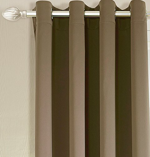 Facets Brown Room Darkening Blackout Insulated Kitchen: Ifblue Best Room Darkening Thermal Insulated Grommet