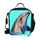 Insulated Kids Lunch Bags Personalized Sea Animals Print Lunch Boxes-3183G