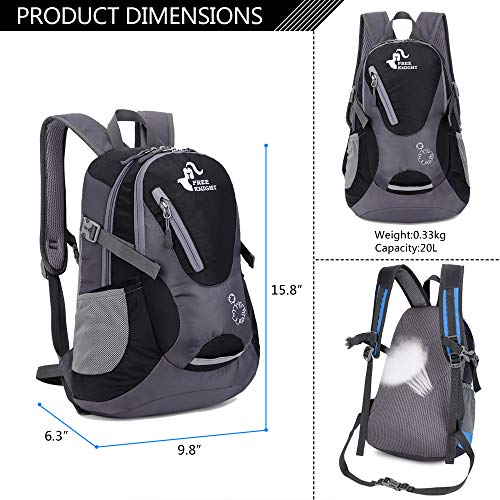Cycling Hiking Backpack Water Resistant Travel Backpack Small Lightweight Daypack 20-25L