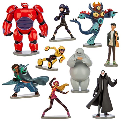 Disney Store Official Big Hero 6 Figure Play Set 9 Piece Deluxe image