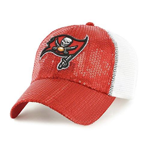 NFL Tampa Bay Buccaneers Women's Brilliance OTS Challenger Adjustable Hat, Red, Women's
