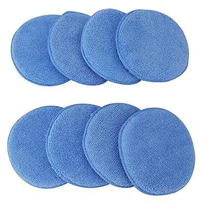 Fasmov Microfiber Applicator Pads Wax Applicator-20 Pack, Blue: Automotive