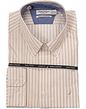 Classic Fit Wrinkle Resistant Tri-Striped Shirt