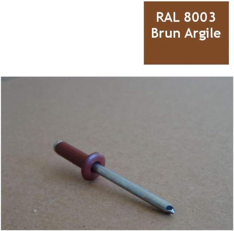 Rivets 4,8x16 mm RAL 8003 brun argile par 100
