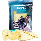 SUPER CAN BULLYSTICKS Jumbo Cow Ears for Dogs [6 Pack] Sourced Only from Premium Free Range Grass Fed Cattle for a Premium, Healthy, Nutritious and Delicious Dog Treat and chew