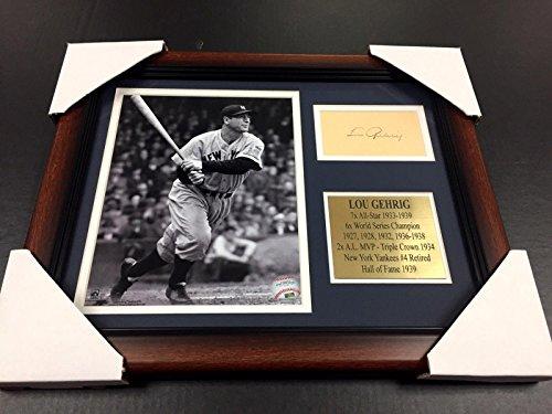 Lou Gehrig Autographed Baseball - Signed Lou Gehrig Photo - Cut Facsimile Reprint Framed 8x10 - Autographed MLB Photos