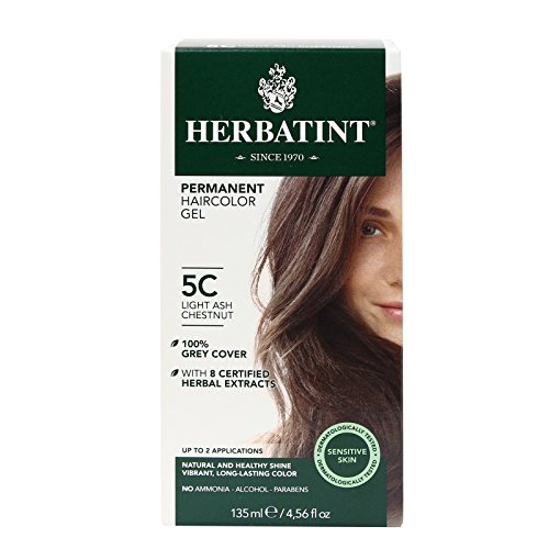 Price comparison product image Herbatint Permanent Herbal Haircolor Gel, Light Ash Chestnut, 4.5 Ounce