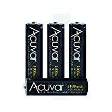 4 High Capacity AA Rechargeable Batteries 3100mAh NiMH f/ Fujifilm FinePix S9900W, S9800, S9800W, L830, AX650, AX660, AXS2950, S2950, S4000, S4200, S4500, S4800, S6800, S8600, S9200, S9400, HS20EXR, S6800, AX660, S9200, S8600 &More + Microfiber Cloth