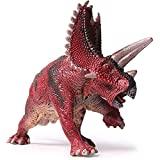 Kolobok Dinosaur Toys Park - Pentaceratops - Jurassic Action Figures Herbivore - Dino World Model - Red