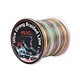 RUNCL Braided Fishing Line with 8 Strands, Fishing Line PE Material 328Yds/300M with Multiple Colors for Freshwater and Saltwater (55LB(20.3kgs)-328Yds)