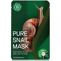 [Tosowoong] Masksheet 10Pcs/Mask Pack/Essence Facial Mask/Mask Sheet/Aloe/Blueberry/Green Tea/Snail/Deep Sea Water/Propolis (Snail)