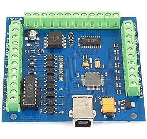 Amazon Com Sainsmart 4 Axis Mach3 Usb Cnc Motion Controller Card Interface Breakout Board Mc3d3 V2 1 Computers Accessories