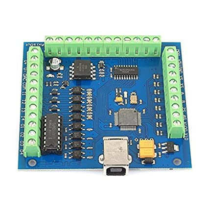 Amazon Com Sainsmart 4 Axis Mach3 Usb Cnc Motion Controller Card Interface Breakout Board Camera P O