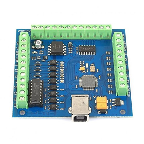 - SainSmart 4 Axis Mach3 USB CNC Motion Controller Card Interface Breakout Board