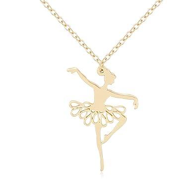 5d170d5cdf09b Amazon.com: NOUMANDA Fashion Dancer Ballerina Girl Pendant Necklace ...