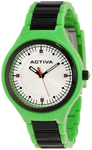 Activa By Invicta Unisex AA200-013 Silver Dial Green Plastic Watch