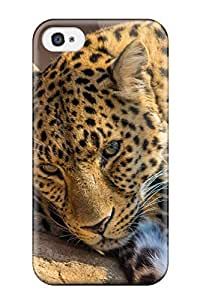 Iphone 4/4s Zoo Leopard Print High Quality Tpu Gel Frame Case Cover