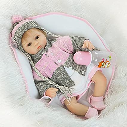 3bc3b9eab790 Image Unavailable. Image not available for. Color  NPKDOLL Reborn Baby Doll  Soft Simulation Silicone Vinyl 18inch 45cm Lifelike Vivid Toy Boy Girl  RD45C037O
