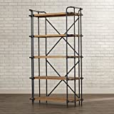 67'' Etagere Antique Bookcase with 5 shelves Industrial and Modern Bookcase