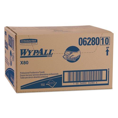 kcc06280 – Wypall x80 Foodservice紙タオル、12 x 23 2 / 5、ブルー/ホワイト B017O52LNC