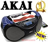 Akai CD/AM/FM Portable Boombox CE2000-USA Limited Edition with LCD Display + Aux + Bass Boost