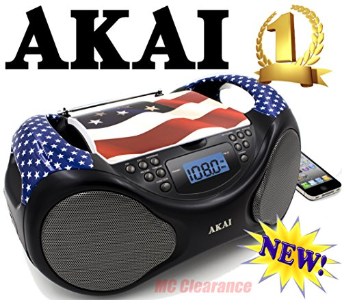 Akai CD/AM/FM Portable Boombox CE2000-USA Limited Edition