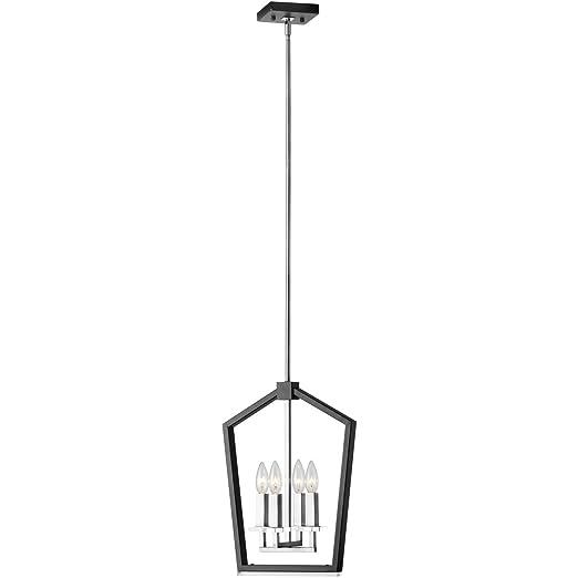 Amazon.com: Lámpara de araña de 4 bombillas con acabado en ...
