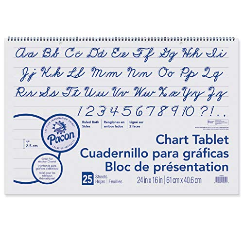 Pacon PAC74620BN Chart Tablet, Cursive Cover, 1