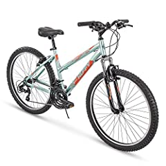 The Huffy Escalate has an energetic intensity with aggressive styling to match your passion for the great outdoors. It has a lightweight aluminum hardtail frame, 21 speeds with an all-SHIMANO drivetrain for ultrasmooth trigger shifting, and l...