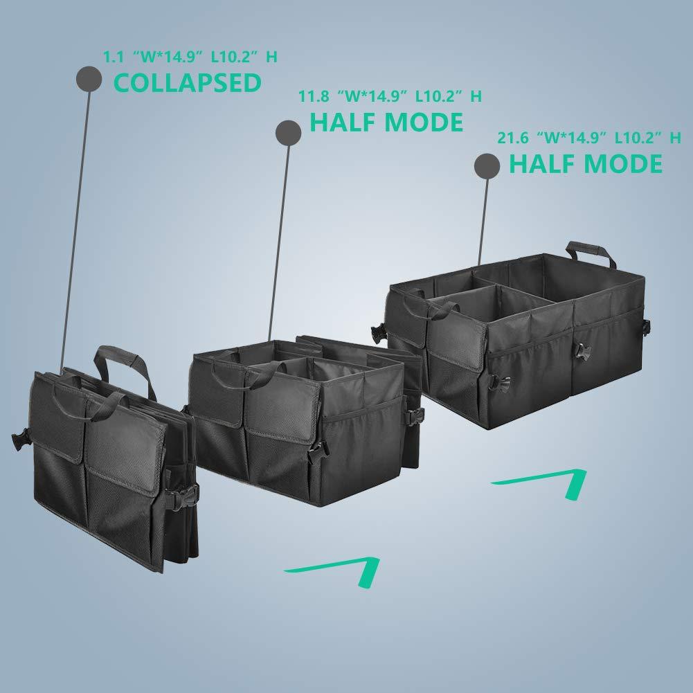 DUTISON Kofferraum Organizer Auto Kofferraumtasche Faltbox Auto mit 2 Taschen /& 4 Netztaschen aufbewahrungsbox Auto Organizer,Oxford 1680D wasserdichter Korb zur K/örbe aufbewahrung von Autozubeh/ör