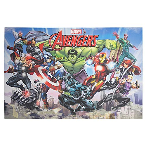 Officially Licensed Marvel Comics Original Avengers Comic Book Cover Wrapped Canvas Wall Art (24