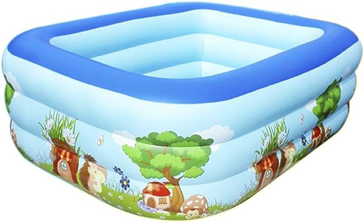 GYL Piscina Inflable Familiar, portátil, fácil de Plegar, Piscina para niños Adultos, Piscina para niños Inflable, Patio al Aire Libre, 200x150x60cm, 2 Colores (Color : Pink): Amazon.es: Hogar