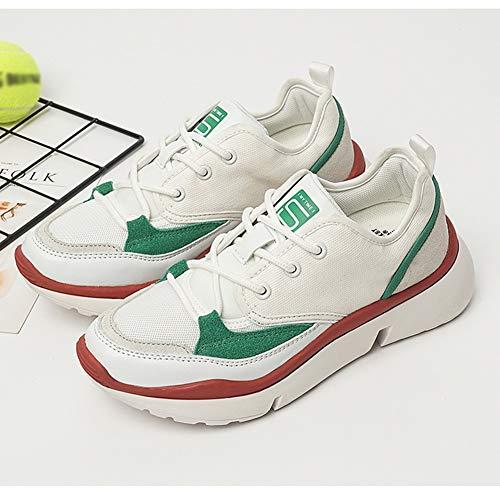 Top größe White Wanderschuhe Green Farbe 40 Sneaker Fashion up HWF Lace Damen Canvas Damenschuhe Low Slip T8F676
