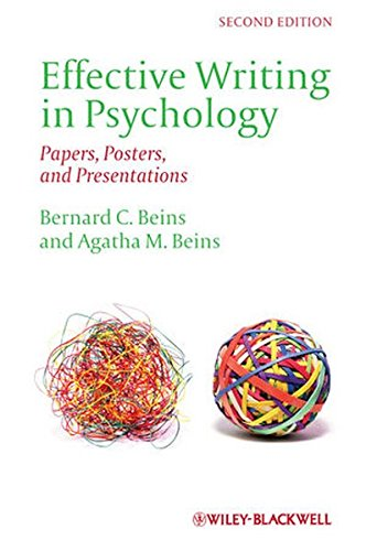 Effective Writing in Psychology: Papers, Posters,and Presentations
