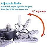 80W LED Garage Lights, Adjustable Trilights Garage